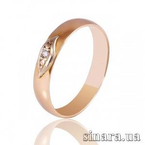 Кольцо из красного золота с бриллиантом 7079