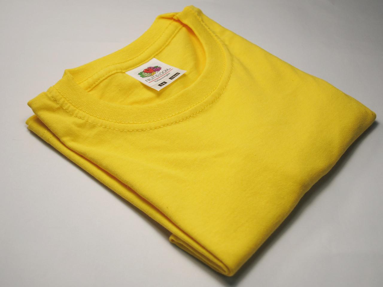 Классическая футболка для мальчика Ярко-жёлтая размер 5-6 лет (116 см) 61-033-K2