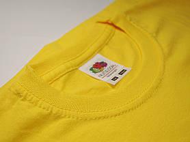 Классическая футболка для мальчика Ярко-жёлтая размер 5-6 лет (116 см) 61-033-K2, фото 3