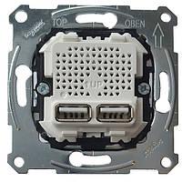 Механизм розетки USB на 2-выхода, Merten