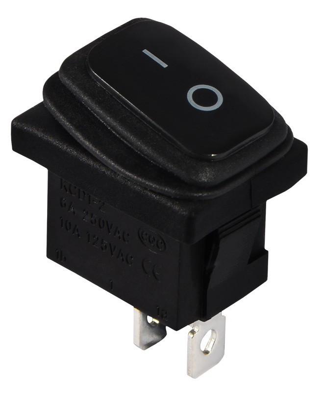 KCD1-2-101W B/B   Переключатель 1 клав. черный влагозащищенный TNSy (TNSy5500692)