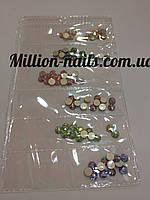 Набор цветных объемных камней для дизайна ногтей
