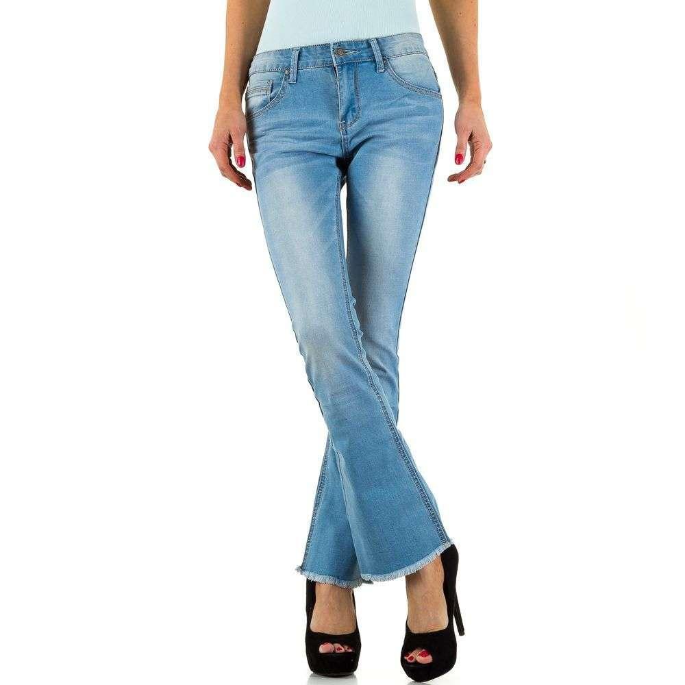 Классические женские джинсы расширенные к низу Daysie Jeans (Европа) Синий