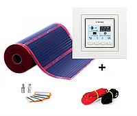Cаморегулирующей пленочный теплый пол RexVa PTC-220/ 220Вт 1,0 м² (0.5м х 2 м)+терморегулятор Terneo pro unic