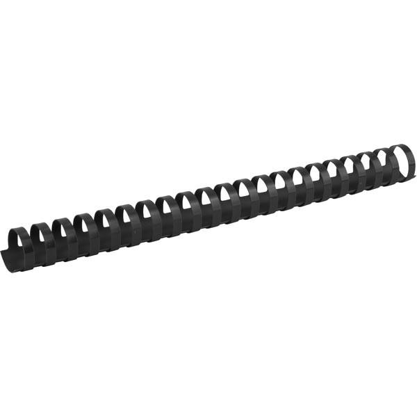 Пружина пластиковая для биндера d 25 мм черная, 50 шт