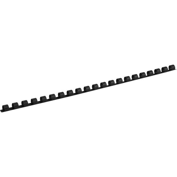 Пружина пластикова для біндера d 8 мм, чорна, 100 шт