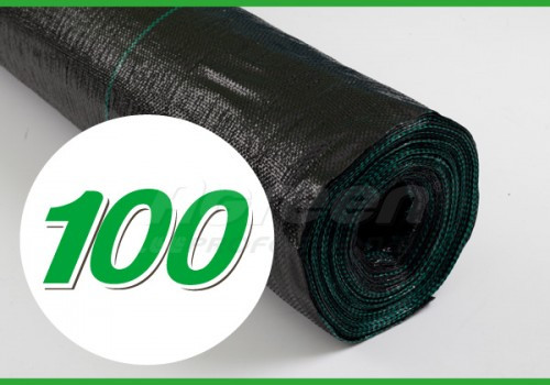 Агроткань Agreen 100, черная, ширина 1,05 м, в рулоне 100 м, для клубники с разметкой
