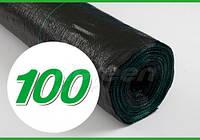 Агроткань Agreen 100, черная, ширина 1,05 м, в рулоне 100 м, для клубники с разметкой, фото 1