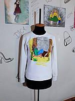 Свитшот унисекс ручная роспись Світшот з двонитки різні кольори з розписом ручної роботи
