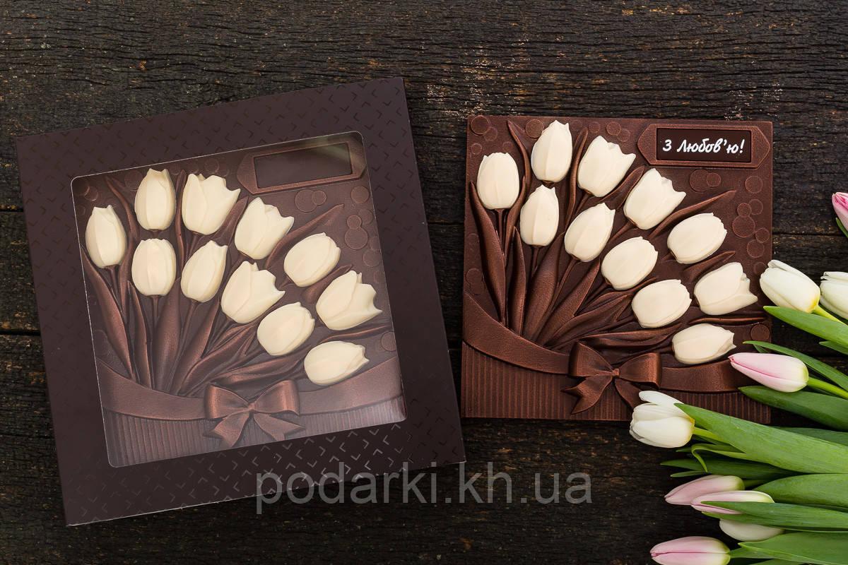 Шоколадные тюльпаны любимой жене
