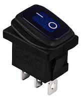 KCD1-2-101WN BL/B  220V  Переключатель 1 клавишный влагозащищенный синий с подсветкой