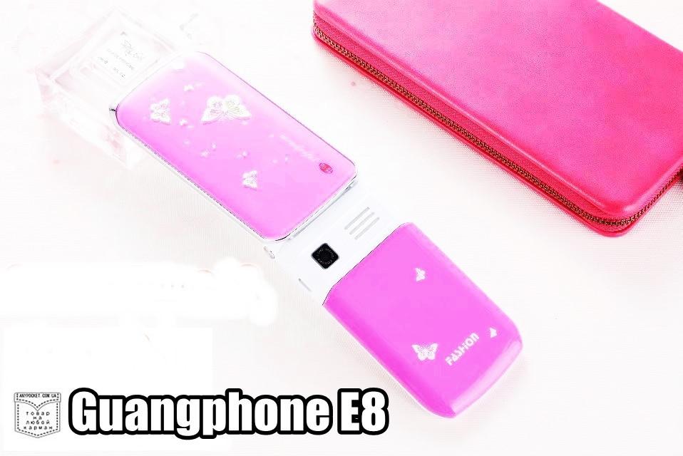 Телефон-раскладушка Samsung Guaphone E8 детский мобильный телефон с светящимся красочным корпусом