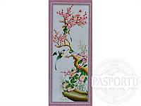 Набор для вышивки картины Птицы на сакуре 91х40см