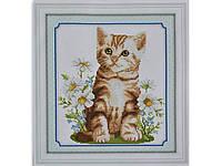 Набор для вышивки картины Котик Рыжик 34х32см