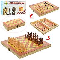 Шахматы 1680EC дерев, 3в1(шашки, нарды), в кор-ке, 24,5-13-4см