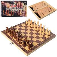 Шахматы W7702 деревян, 3в1(шашки, нарды), в кор-ке, 29,5-15-4,5см
