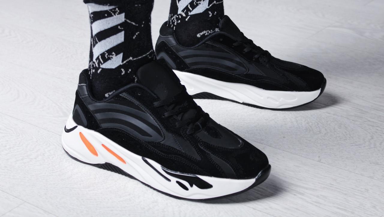 """Кроссовки мужские Kanye West x Adidas Yeezy 700 Boost V2 """"Static Black"""" / NKR-1674 (Реплика)"""