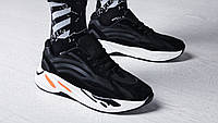"Кроссовки мужские Kanye West x Adidas Yeezy 700 Boost V2 ""Static Black"" / NKR-1674 (Реплика)"