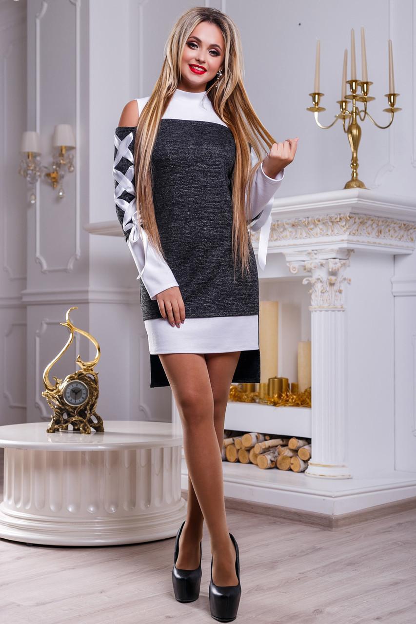 fdfc207df99 📐Нарядное бело-черное платье   Размер S
