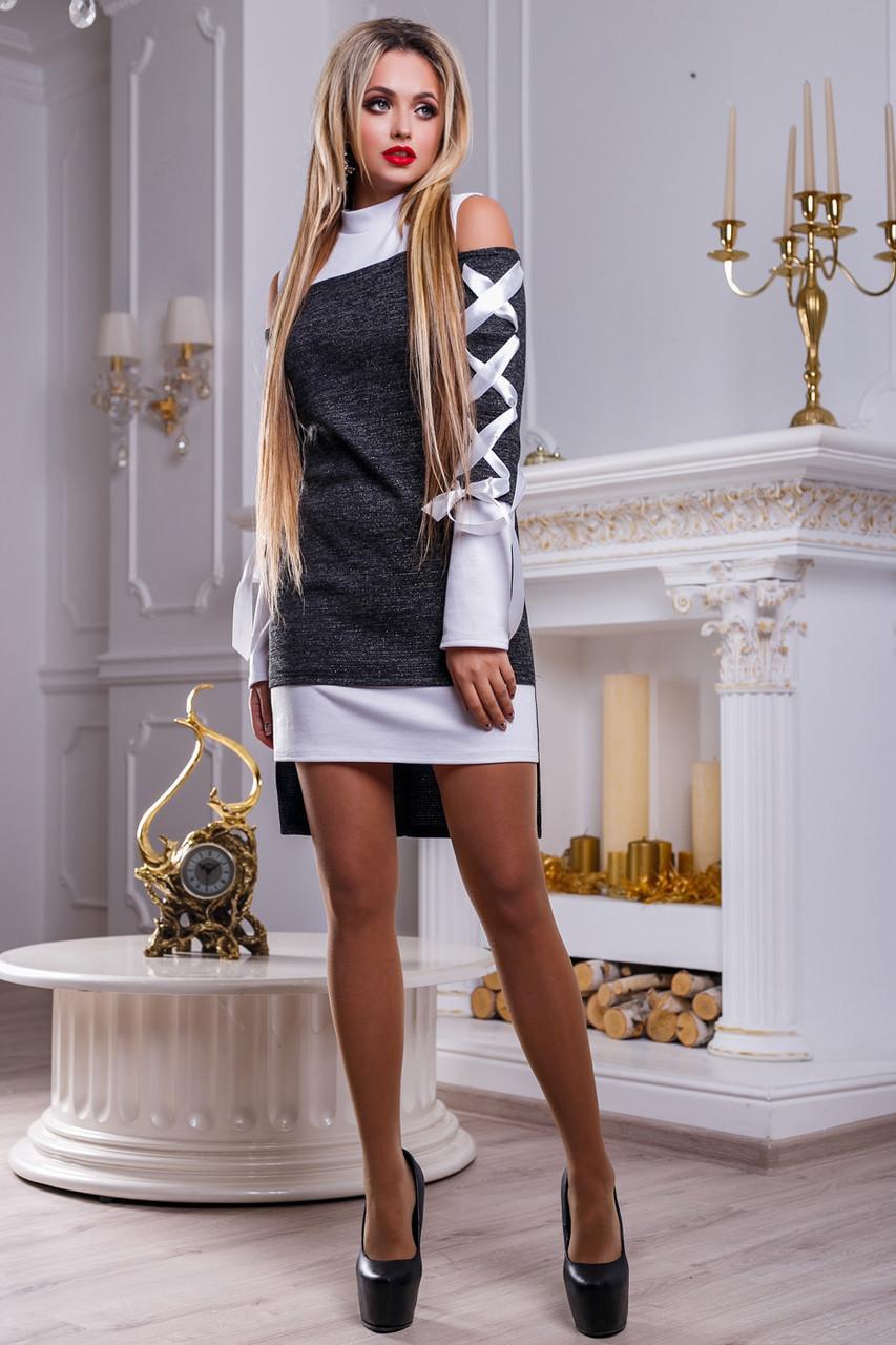 de09dd21456 ... 📐Нарядное бело-черное платье   Размер S