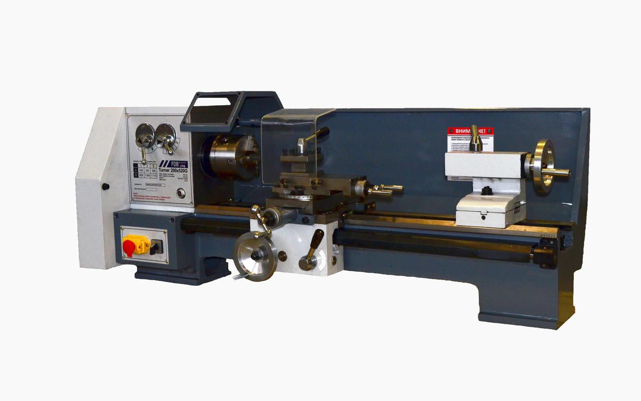 Станок токарный по металлу FDB Maschinen Turner 200x520G