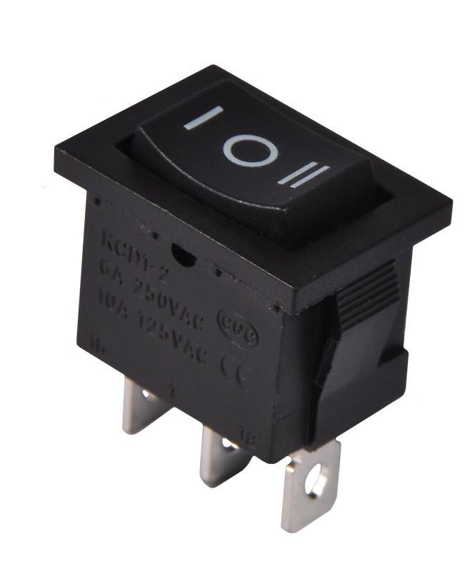 KCD1-2-103 B/B Переключатель 1 клавишный перекидной (черный)