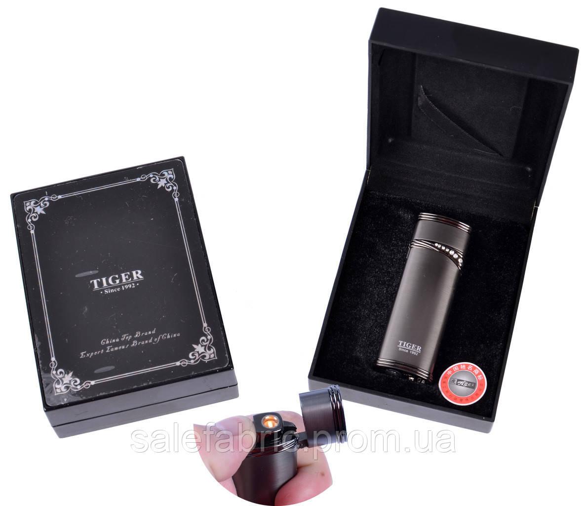 Зажигалка подарочная Tiger (Турбо пламя) №3567 Black