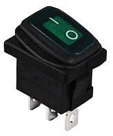 KCD1-2-101WN G/B  220V  Переключатель 1 клавишный влагозащищенный зеленый с подсветкой TNSy (TNSy5500694)
