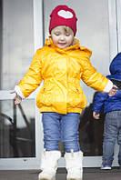 """Куртка плащ для девочки демисезонная Lutter """"Модница"""" желтый"""