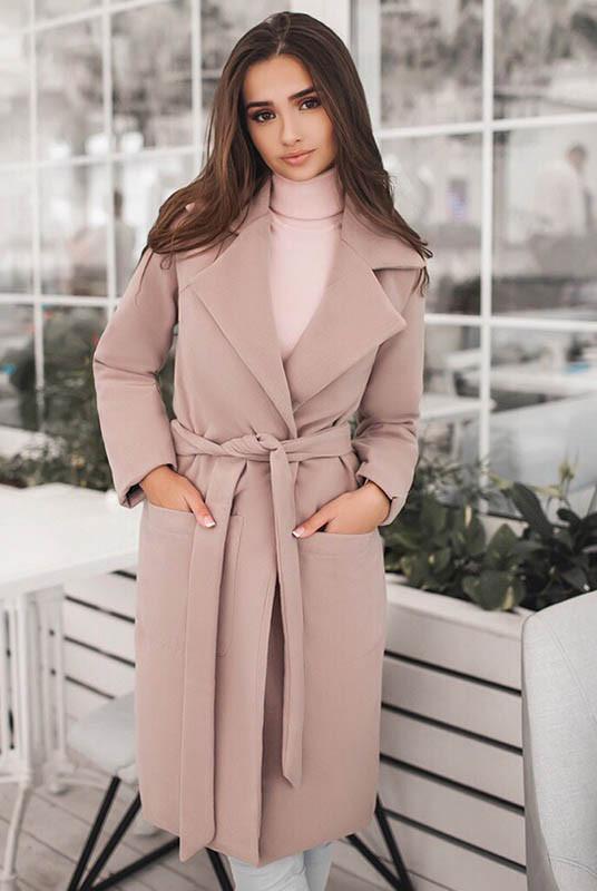 Бежевое женское пальто Сприн