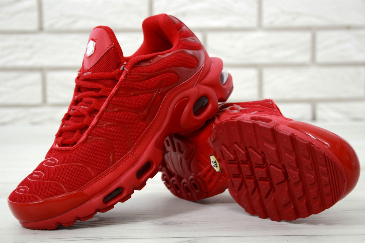 a8becfc5 Мужские кроссовки Nike Air Max TN Plus красные топ реплика -  Интернет-магазин обуви и