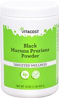 Черная мукуна, Vitacost, Black Mucuna Pruriens Powder, 454 грамма