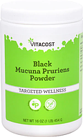 Чорна мукуна, Vitacost, Black Mucuna Pruriens Powder, 454 грами