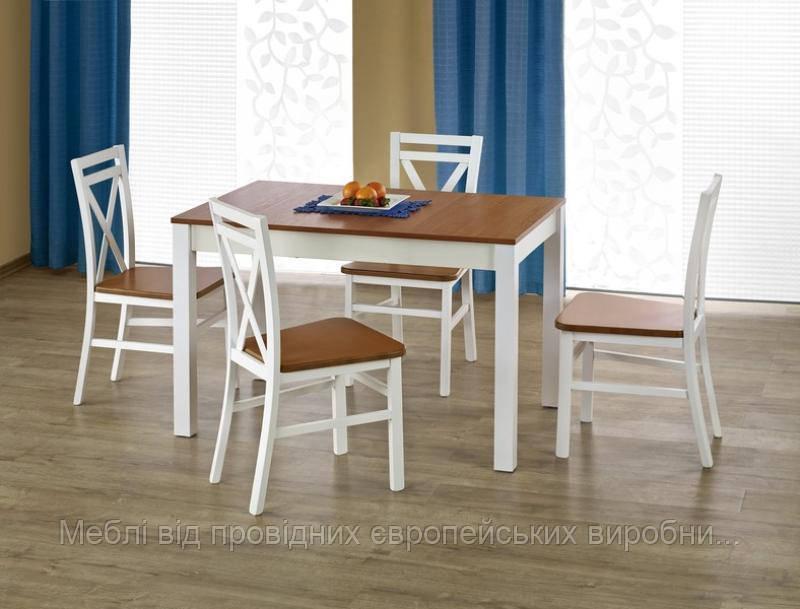 Стол деревянный KSAWERY Halmar (ольха/белый)