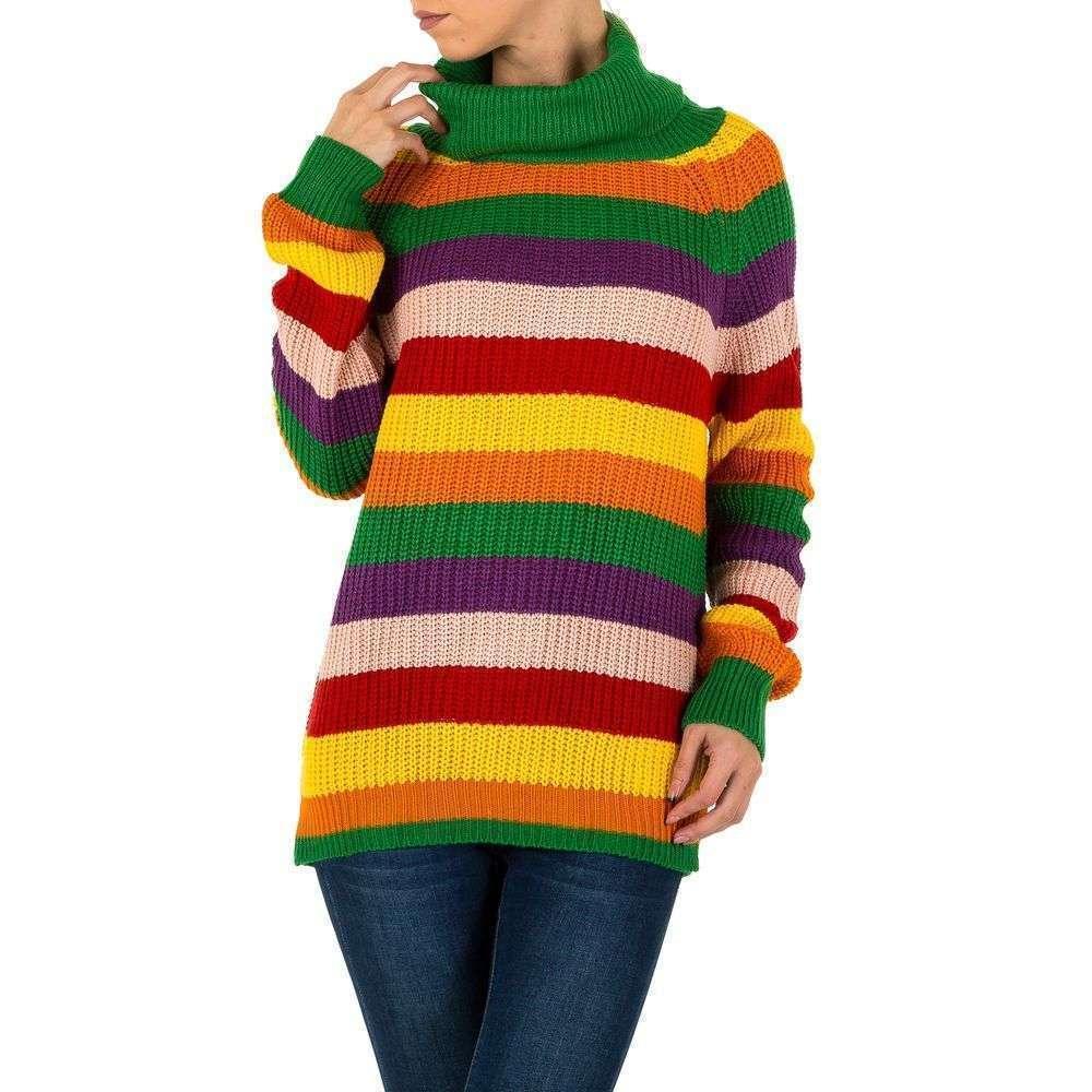 женский вязаный свитер в разноцветную полоску Milas европа
