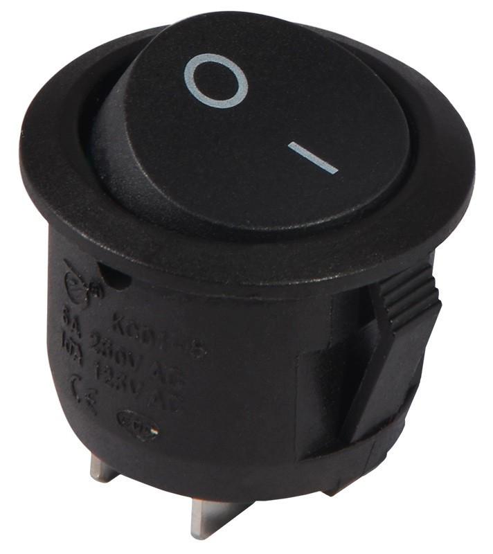 KCD1-5-101 B/B  Переключатель 1 клавишный черный круглый TNSy (TNSy5500705)
