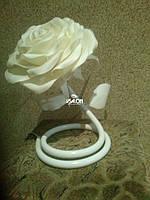 Светильник из изолона цветок белая роза