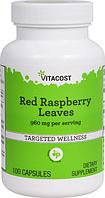 Листья красной малины, Vitacost, Red Raspberry Leaves, 960 мг, 100 капсул