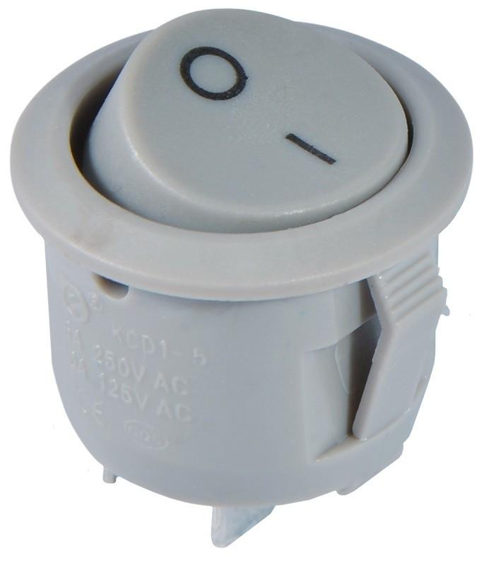 KCD1-5-101 Grey/Grey Переключатель 1 клавишный круглый серый TNSy (TNSy5500715)
