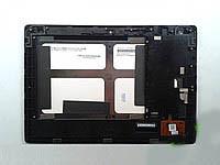 Дисплей с тачскрином Lenovo S6000 IdeaPad черный в рамке (версия Wi-Fi)