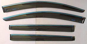 Chevrovet Aveo T300 хэтчбек 5 дверей ветровики дверей с хром полоской ASP передние и задние/ дефлекторы/ sunvisors