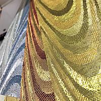 Золотые-жалюзи тканевые Ампир 89мм