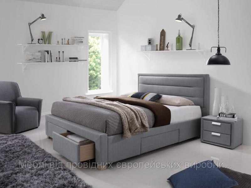 Кровать серая Ines 160х200