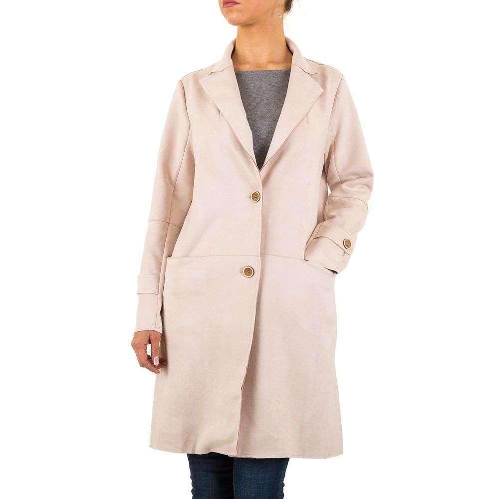 Пудровое пальто женское (Европа) Пудровый
