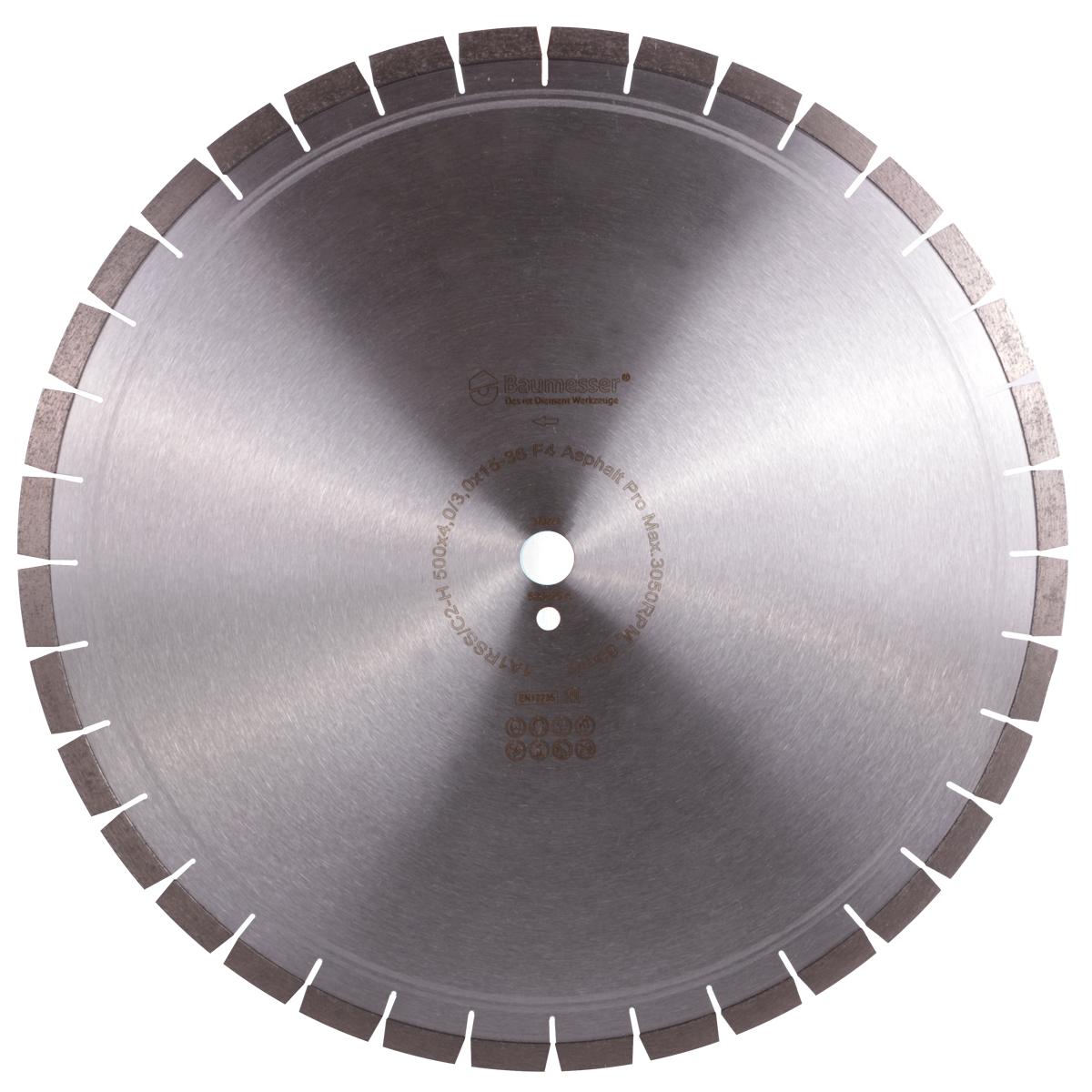 Круг алмазный отрезной 1A1RSS/C2-H 500x4,0/3,0x15x25,4-36 F4 Baumesser Asphalt Pro
