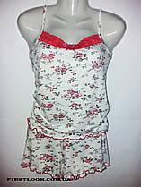 Женская пижама шорты и майка бамбуковая