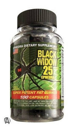 Black Widow Spider 100 caps, фото 2