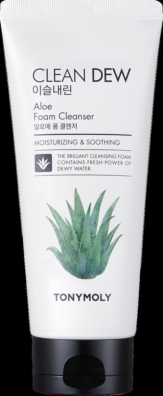Очищающая пенка для умывания с алоэ Tony Moly Clean Dew Aloe Foam Cleanser - 180 мл