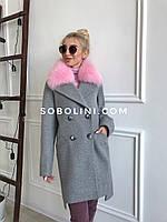 Пальто с мехом песца-альбиноса Lorraine, фото 1