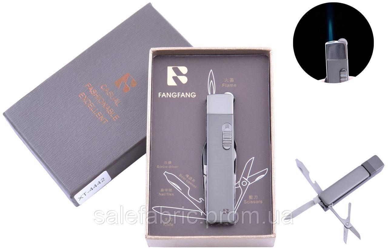 Зажигалка подарочная Fang Fang (Острое пламя, Нож) №4442 Black